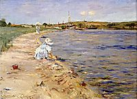 Beach Scene Morning at Canoe Place, 1896, chase