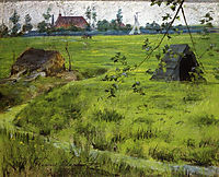 A Bit of Holland Meadows (aka A Bit of Green in Holland), 1883, chase