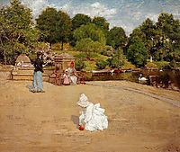 A Bit of the Terrace aka Early Morning Stroll, 1890, chase