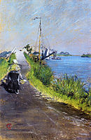 Dutch Canal (aka Canal Path Holland), 1883, chase
