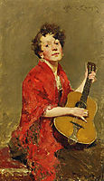 Girl with Guitar, c.1886, chase