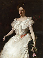 Lady with a Rose, c.1901, chase
