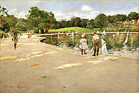 The Lake for Miniature Yachts, 1888, chase