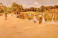 Lilliputian BoatLake Central Park, 1890, chase