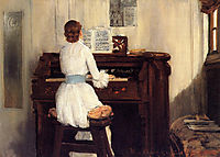 Mrs. Meigs at the Piano Organ, 1883, chase