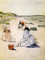 On the Beach, Shinnecock, 1895, chase