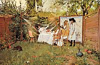 The Open Air Breakfast, 1888, chase