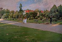 Park in Brooklyn, 1887, chase
