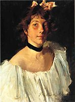 Portrait of a Lady in a White Dress, 1892, chase