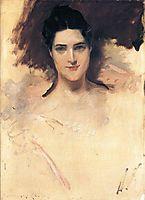 Portrait of Mrs. William Clark, chase