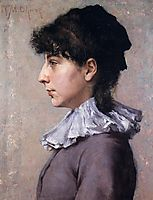 Portrait of Virginia Gerson, c.1880, chase