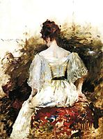 Portrait of a Woman: The White Dress, 1888-1890, chase