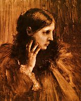 Reverie: A Portrait of a Woman, 1890, chase