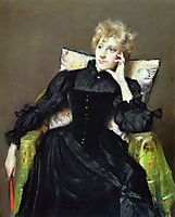 Seated Woman in Black Dress, 1890, chase