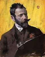 Self Portrait, 1883, chase