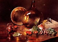 Still Life, Brass and Glass, 1888, chase