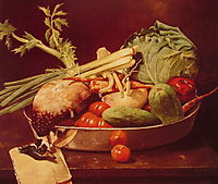 Still Life with Vegetables, 1870, chase