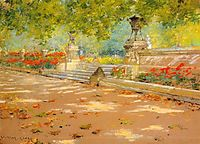 Terrace, Prospect Park, 1886, chase