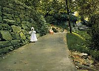 In the Park a By­Path, 1890, chase