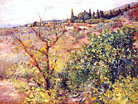 View of Fiesole, 1907, chase