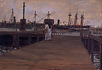 Woman on a Dock, 1886, chase