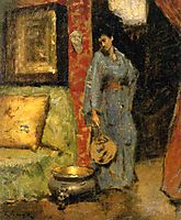Woman in Kimono Holding a Japanese Fan, 18, chase