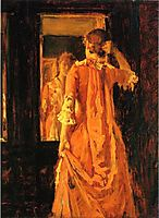 Young Woman Before a Mirror, 18, chase