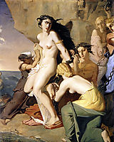 Andromeda Chained to the Rock by the Nereids, 1840, chasseriau