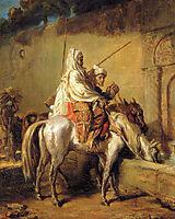 Arabes faisant boire leurs chevaux, 1851, chasseriau