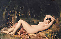 Bather Sleeping Near a Spring, 1850, chasseriau