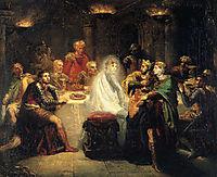 Macbeth apercevant le spectre de Banco, 1854, chasseriau