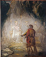 Macbeth, the apparition of the kings, 1856, chasseriau