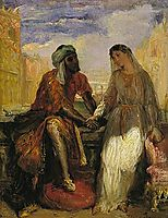 Othello and Desdemona in Venice, 1850, chasseriau