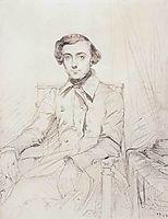 Portrait of Alexis de Tocqueville, 1844, chasseriau