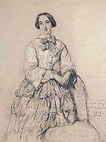 Portrait of Comtesse du Magnoncourt, ne Mary de Tracy, 1852, chasseriau