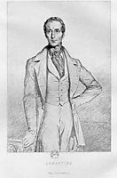 Portrait de Lamartine, 1844, chasseriau