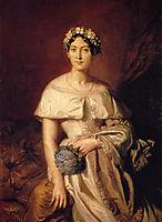 Portrait de Mlle de Cabarrus, 1848, chasseriau