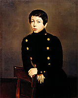 Portrait of Ernest Chasseriau, The Painter-s Brother in the Uniform of the Ecole Navale in Brest about the Age of 13, 1835, chasseriau