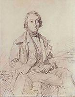 Portrait of Jean-Gaspard-Flix Larcher Ravaisson-Mollien, 1846, chasseriau