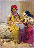 Young Moorish Woman Nursing Her Child, 1850, chasseriau