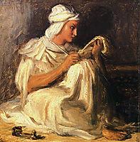 Young Taleb, Arab Poet, 1850, chasseriau