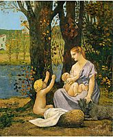 Allegory of Charity, 1887, chavannes