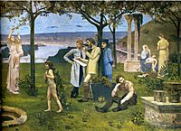 Between Art and Nature (detail), 1888, chavannes