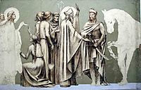 Fresco for the decoration of the Pantheon: saints, chavannes