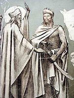 Fresco for the decoration of the Pantheon: saints (detail), chavannes
