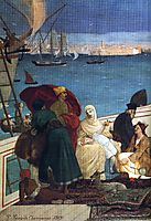 Marseilles, Gate to the Orient (detail), 1869, chavannes