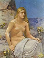 The Penitent Magdalen, 1897, chavannes