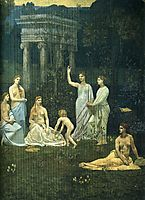 The Sacred Wood Cherished by the Arts and the Muses (detail), 1889, chavannes
