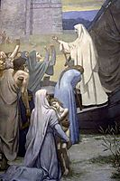 St. Genevieve Bringing Supplies to the City of Paris after the Siege , chavannes