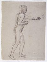 Study of a Standing Male Nude, 1882, chavannes